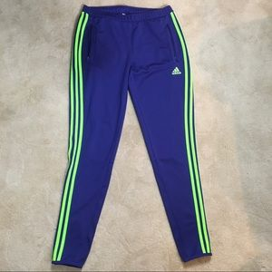 Adidas Neon Green & Blue Tapered Track Pants M